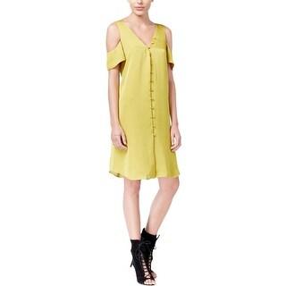 Rachel Roy Womens Casual Dress Shift Button-Down