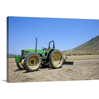 """Tractor in Ventura County, California"" Canvas Wall Art"