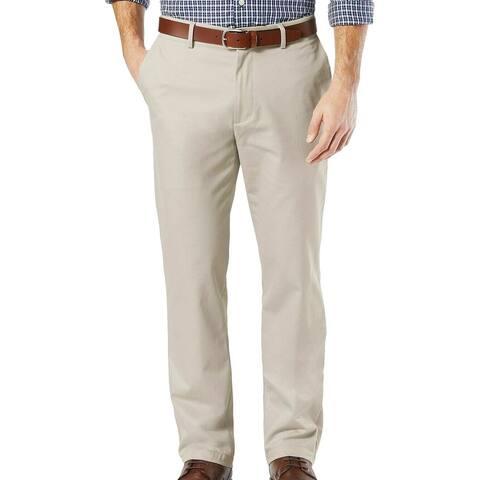 Dockers Mens Signature Khaki Pants Beige Size 38x30 Straight Fit Stretch