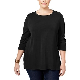 Karen Scott Womens Plus Sweater Raw Hem Boatneck (3 options available)