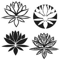 "Lotus Blossom - Crafter's Workshop Template 6""X6"""