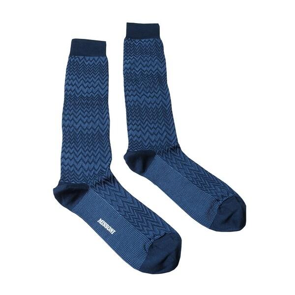 Missoni GM00CMU4947 0004 Blue Knee Length Socks - M