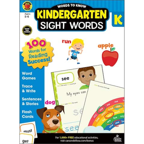 Brighter child words to know sight words grade k 705234