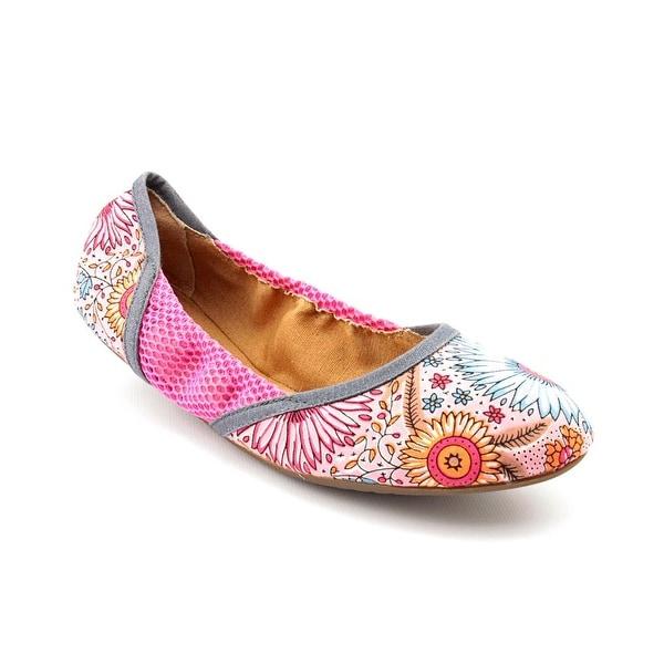 Dimmi Hari Om Round Toe Canvas Ballet Flats