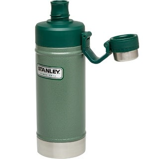 Stanley Classic 18oz. Vacuum Water Bottle-Hammertone Green 10-02105-001