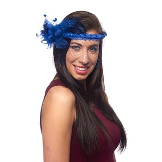 Flapper's Fancy Flowered Fascinator with Veil