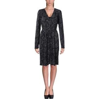 Elie Tahari Womens Heidi Jersey Printed Wear to Work Dress