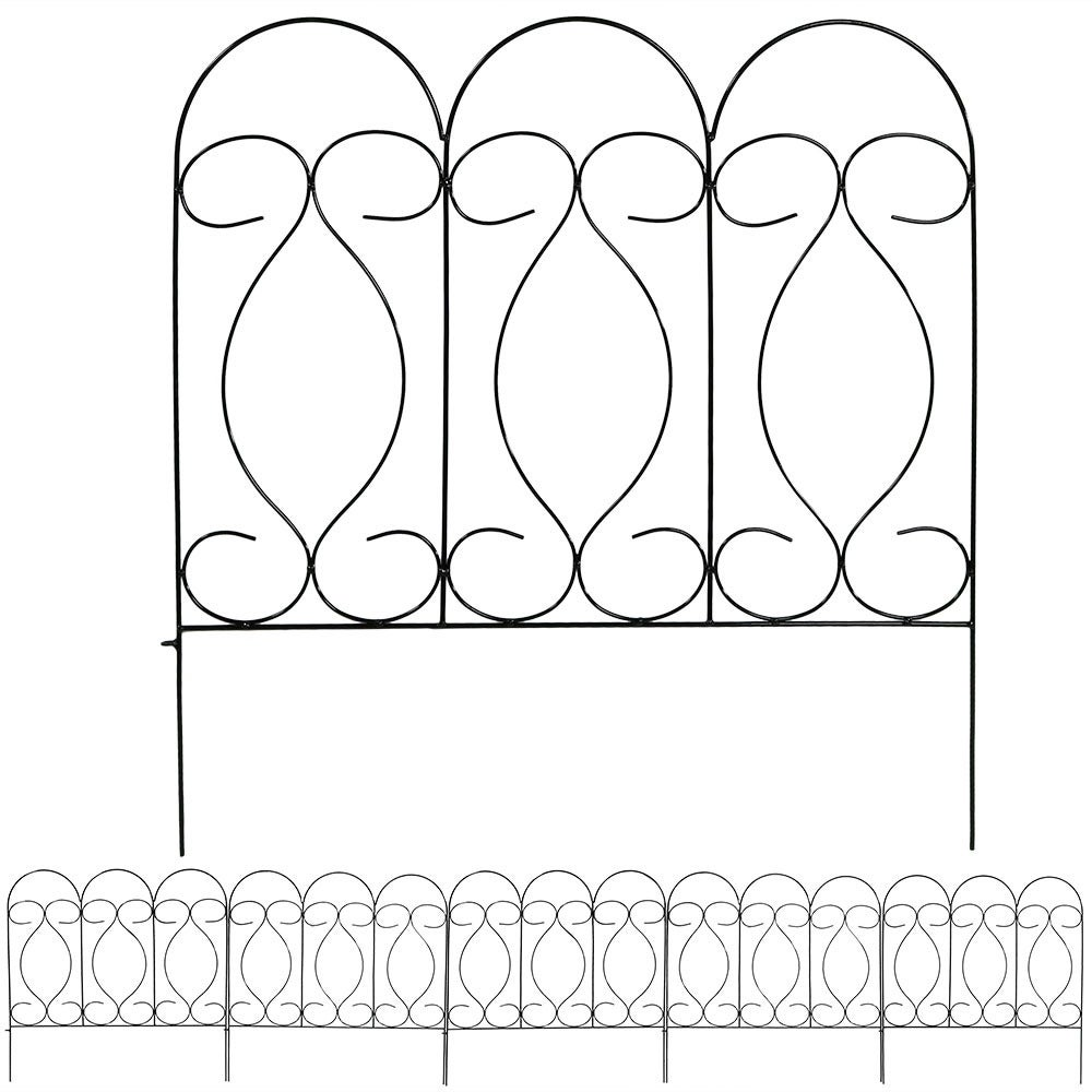 Sunnydaze Border Fence Panels, Set of 5 - Style Options Available - Thumbnail 1