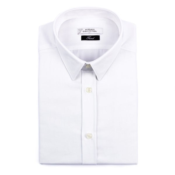 Versace Collection Men's Dress Shirt White