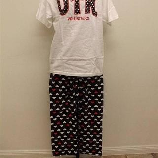 Tennessee Volunteers Womens Sizes L-XL 2-Piece Pajama Pants & Shirt Set