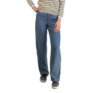 Prada Women's Lyocell Loose Fit Jean Pants Blue