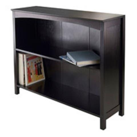 30 Espresso Black Storage Shelf or Bookcase with Three Tier Wide