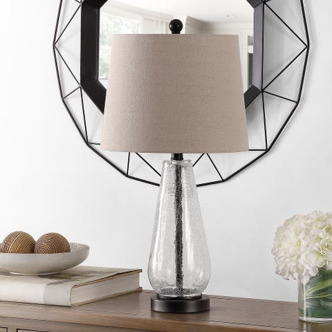 "Safavieh Lighting 25.5-inch Naila Glass Table Lamp - 13"" x 13"" x 25.5"""