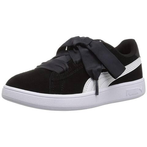 PUMA Smash v2 Ribbon Kids Sneaker - 13.5