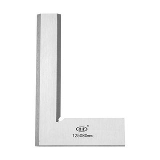 Try Square Ruler, 125mmx80mm Woodworking Blade Measuring Tool Right Angle - Metric 125mmx80mm
