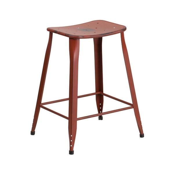 Shop Offex 24 High Distressed Kelly Red Metal Indoor