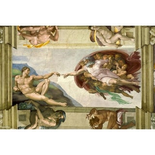 Easy Art Prints Michelangelo's 'The Creation of Adam' Premium Canvas Art