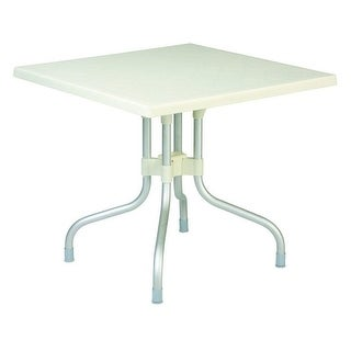 "Compamia ISP770-WHI Forza White 31"" Square Folding Outdoor Patio Table"