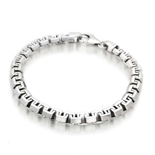 7b741ead718dd Solid Heavy Strong Franco Square Link Chain Bracelet For Men 925 Sterling  Silver Made In Italy 8.5in