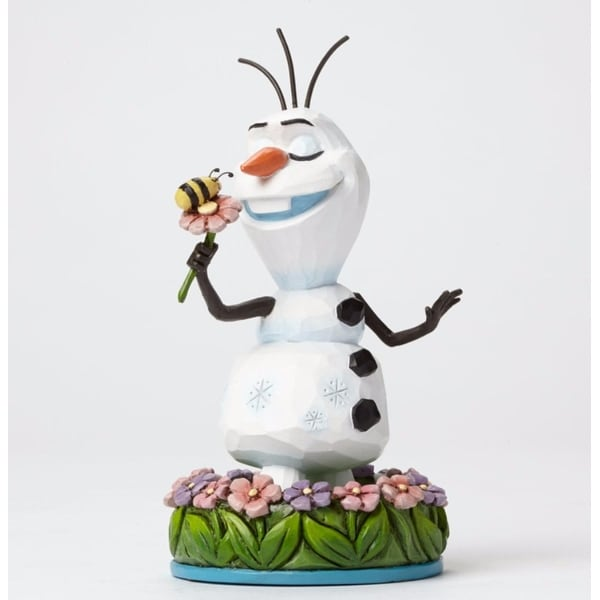 "Disney Traditions Frozen Showcase Collection ""Dreaming of Summer"" Olaf the Snowman Figurine #4046037 - WHITE"
