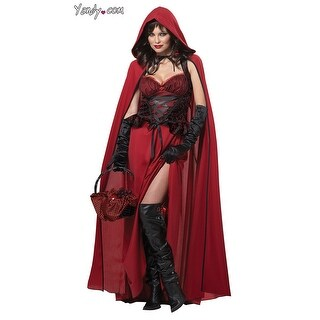 Dark Red Riding Hood Costume, Red Riding Hood Halloween Costume