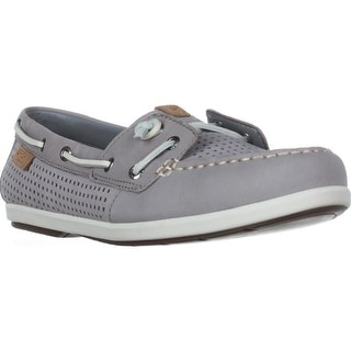 Sperry Top-Sider Coil Ivy Boat Shoes, Perf Grey