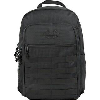 Dickies NEW Black Men's Solid Campbell Slip Pocket Logo Backpack
