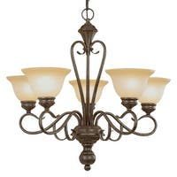 Millennium Lighting 6075 Devonshire 5-Light Single Tier Chandelier - Burnished Gold - n/a
