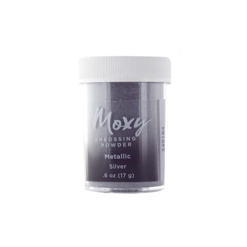 349184 amc moxy embossing powder 6oz metallic silver