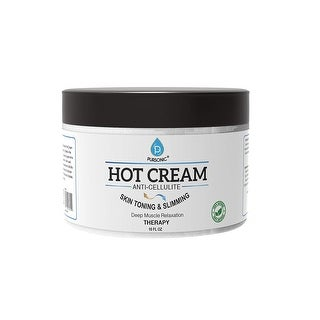 Pursonic CCMRC10 Anti Cellulite & Muscle Relaxation Hot Cream, 10oz, Made With All Natural Ingredients