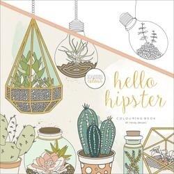 """Hello Hipster - Kaisercolour Perfect Bound Coloring Book 9.75""""X9.75"""""""