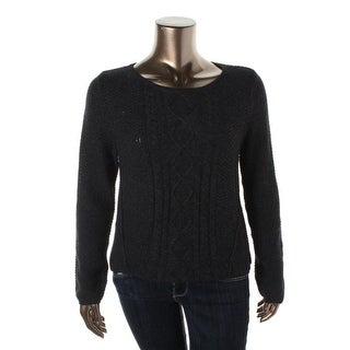 Denim & Supply Ralph Lauren Womens Cable Knit Long Sleeves Pullover Sweater