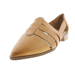 Chinese Laundry Womens Outcast Leather Slip n Pointy-Toe Flats - 7.5 medium (b,m)
