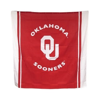 Oklahoma Sooners Fabric Shower Curtain 71 X 71 in. - Red