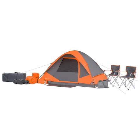 22-Piece Camping Tent Combo - Orange