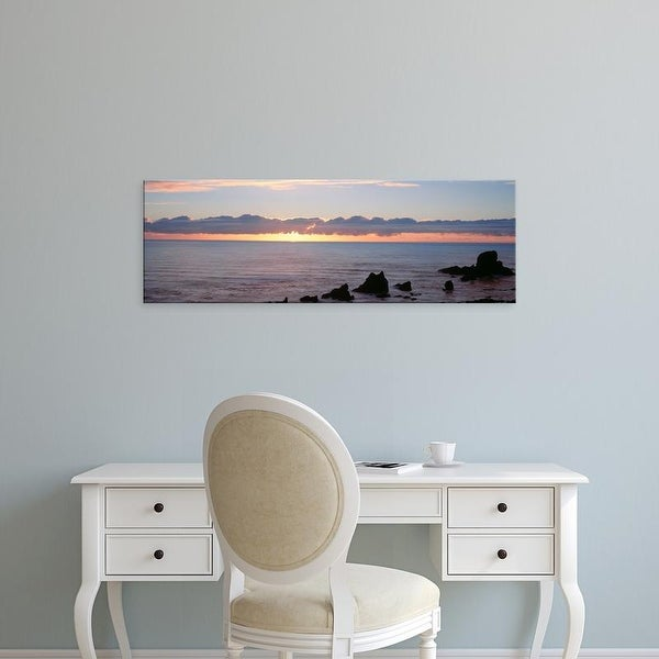 Easy Art Prints Panoramic Images's 'USA, Oregon, Pacific Ocean, sunset' Premium Canvas Art