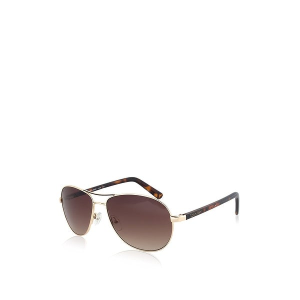 4d54dca4fc Shop Calvin Klein Aviator Sunglasses - Gold - Free Shipping On ...