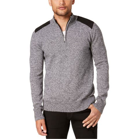 Sean John Mens Marled Henley Sweater