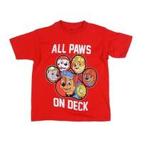 Nickelodeon Boys' Little Boys' All Paws on Deck Short Sleeve Tee
