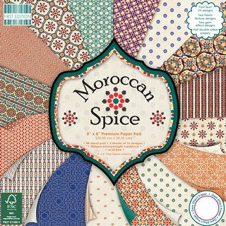 "First Edition Premium Paper Pad 8""X8"" 48/Pkg-Moroccan Spice, 16 Designs/3 Each"