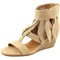 Yellow Box Womens Feather Leather Open Toe Casual Platform Sandals