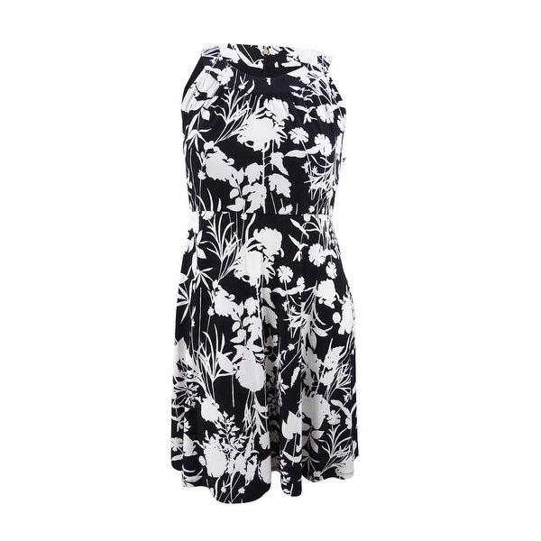 66a9738df1b604 Shop Tommy Hilfiger Women s Printed Sleeveless A-Line Dress (12 ...