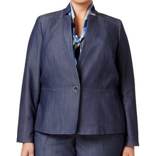 Nine West NEW Blue Denim Women's Size 18W Plus Single-Button Jacket