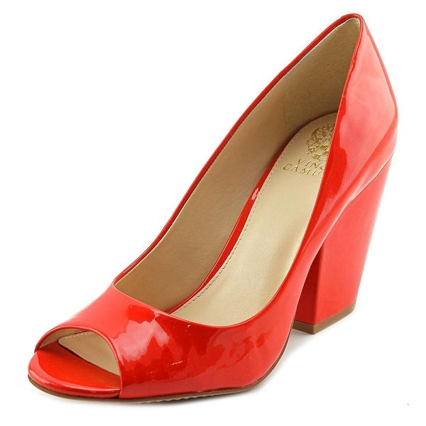 c27bc84efb Shop Vince Camuto Berit Women Peep-Toe Patent Leather Red Heels ...