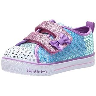 Skechers Kids Girls' Shuffle Lite-Mini Mermaid Sneaker, Turquoise/Multi, 6.5 Medium Us Toddler