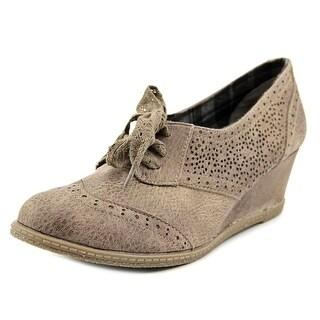 Not Rated Lepus Women Open Toe Synthetic Gray Wedge Heel