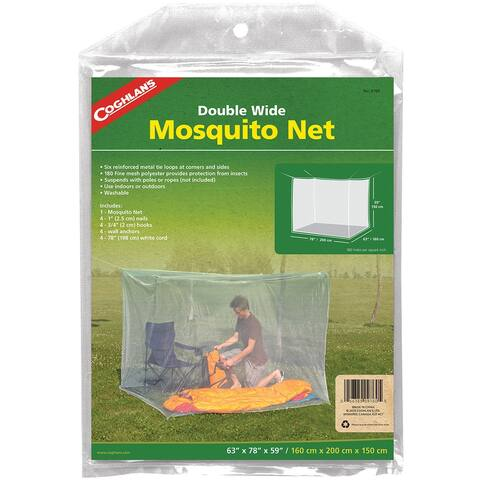 Coghlan's Double Wide Mosquito Net, White, Mesh Netting