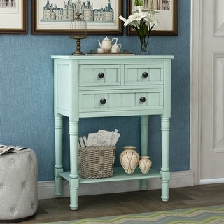 Link to Narrow Console Table, Slim Sofa Table with Three Storage Drawers Similar Items in Living Room Furniture