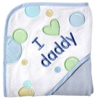 Luvable Friends Love Parents Hooded Towel - LIGHT BLUE