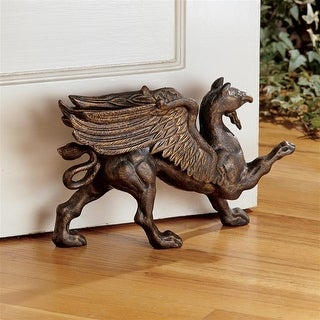 Design Toscano The Growling Griffin Authentic Foundry Iron Doorstop